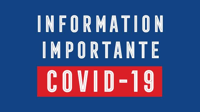 Covid 19 information importante